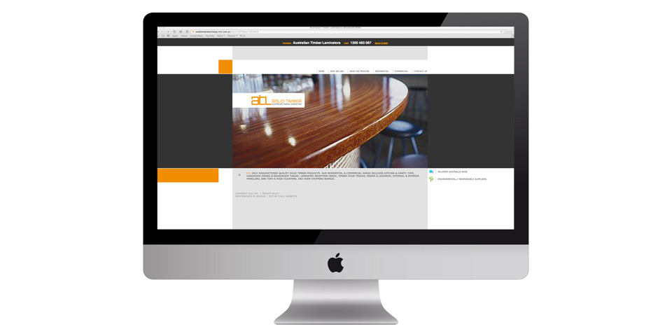Australian Timber Laminators ~ website with structure