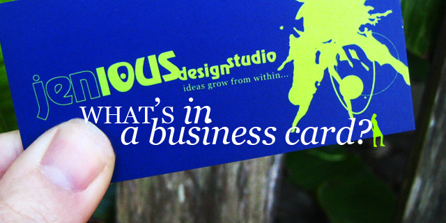 What's in a business card?