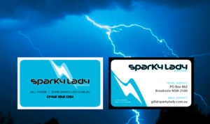 Sparky Lady Business Cards