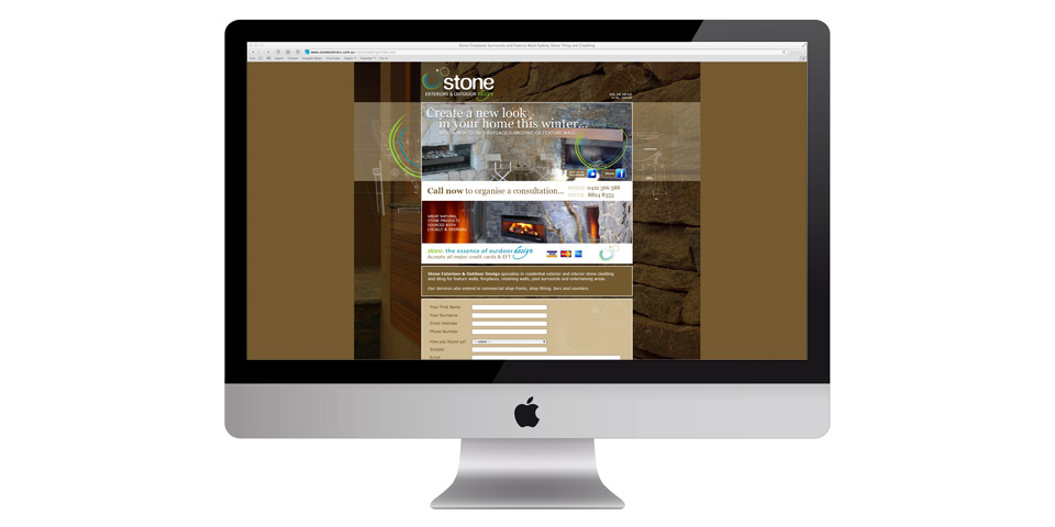 Stone Exteriors & Outdoor Design ~ a website in the making