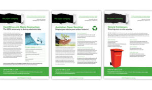 3 flyers The Paper Company